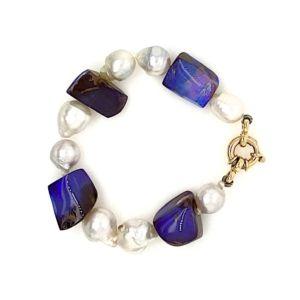 South-sea-pearls-boulder-opal-luxury-gold-bracelet-jewel
