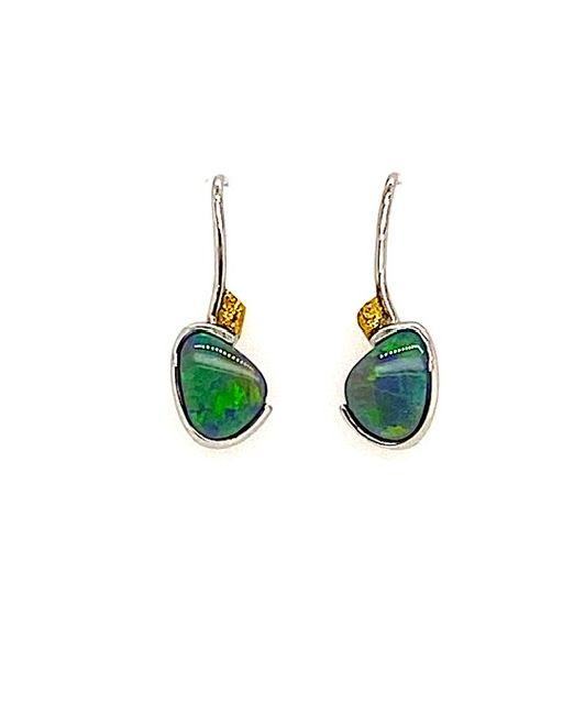 Elektron-lightning ridge-opal-earrings-gold-silver