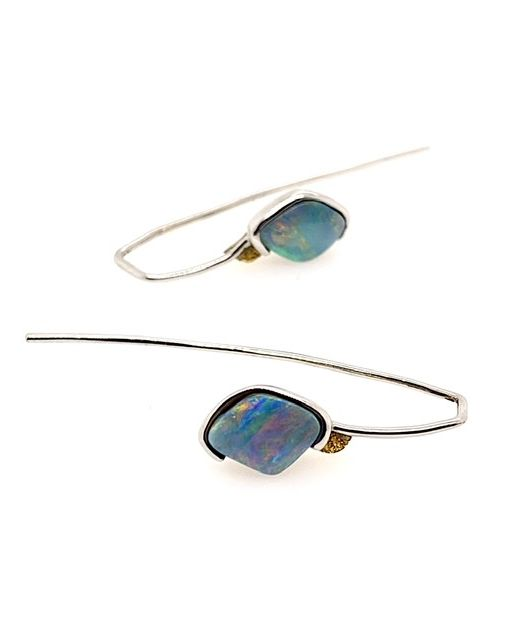 Elektron-boulder-opal-hook-earrings