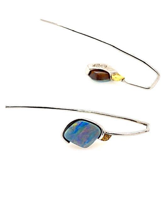 Elektron-be-bolda-boulder-opal-hook-earrings