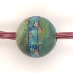 Green-Saturn-opal-bead-mosaic
