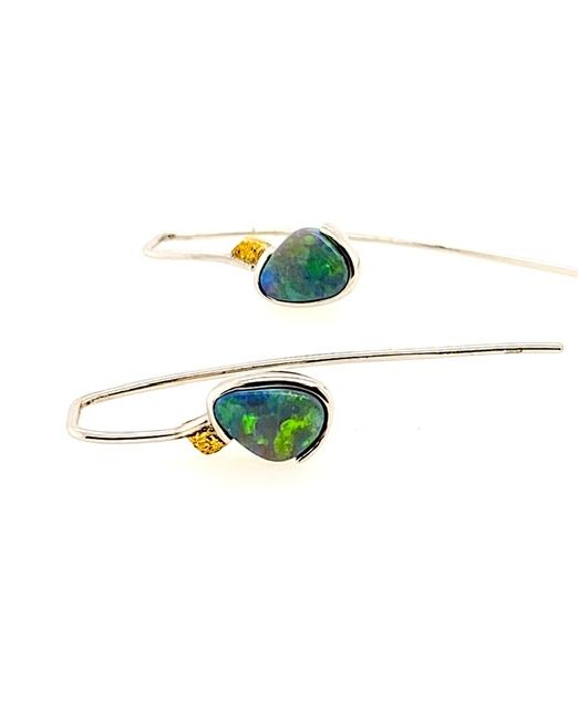 Elektron-lightning ridge-opal-earrings