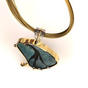 Yellow-whitegold-opal-pendant