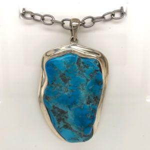 Silver-Turquoise-pendant-sleepingbeauty