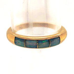 Opal-band-inlay-ring