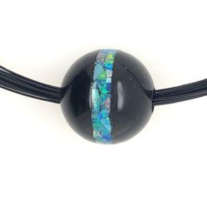 Black-catseye-opal-mosaic-bead