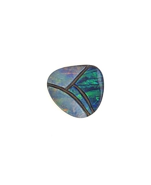 Boulder-opal-carving-red-blue