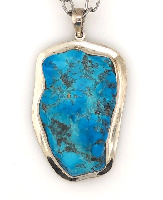 Silver-Turquoise-pendant