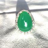 Deluxe-verde-chrysoprase-ring