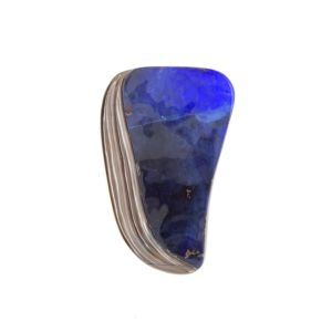 Blue-boulder-opal-carving-ironstone
