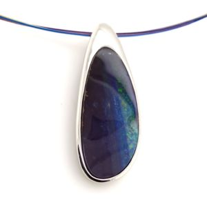 blue-opal-pendant-Silver