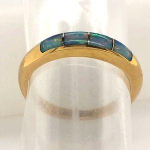 Opal-band-inlay-ring-shank