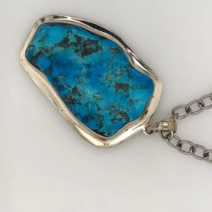 Silver-Turquoise-pendant-nugget
