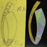 Mintabie-opal-pendant-design