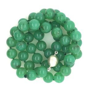 Chrysoprase-beads-strand