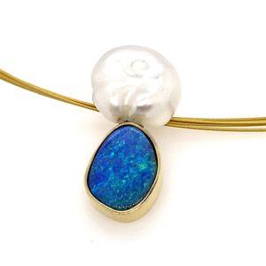 Boulder-opal-keshi-pearl-pendant
