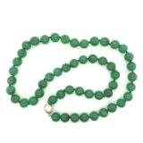 Chrysoprase-round-beads-strand