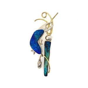 Aquatika-gold-silver-boulder-opal-pendant