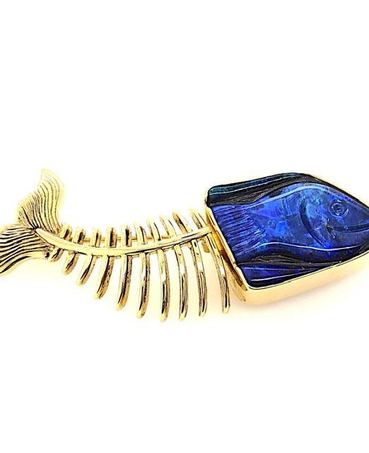 Boulder-opal-fish-gold-18k-Aquatika