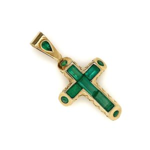 Columbian-Emerald-18K-gold-cross-by-bolda
