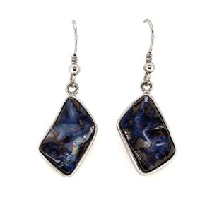 Boulder-opal-silver-earrings