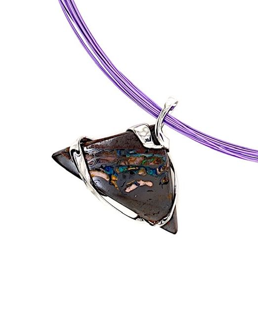 Silver-wrapped-Boulder-opal