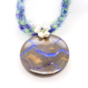 Mohair-pearls-round-boulder-Matrix-opal-neckware