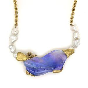 Gold-necklace-black-opal-chocolate-diamond