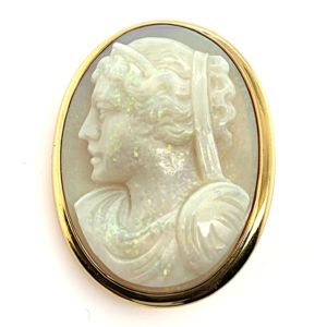 Opal-Cameo-gold-pendant-brooch-enhancer