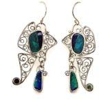 Butterfly-opal-earrings