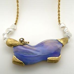 Gold-necklace-black-opal-chocolate-diamond-keshi-pearls