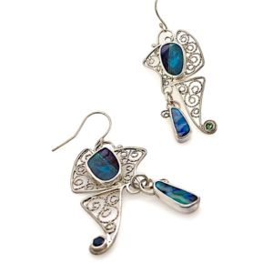 Butterfly-boulder-opal-earrings