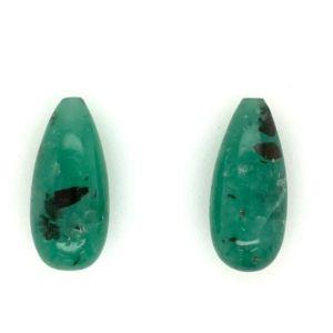 Columbian-Emerald-pyritized-drops-pair