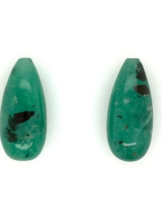 Columbian-Emerald-pyritized-drops-pair