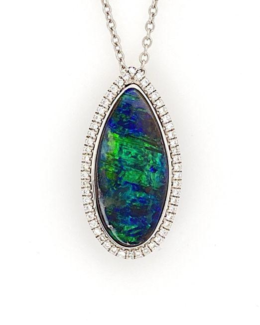 White-gold-black-boulder-opal-pendant-bolda