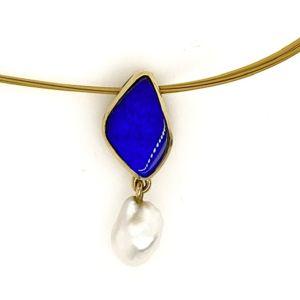 Gold-keshi-pearl-blue-boulder-opal-pendant