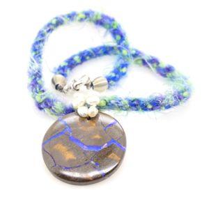Mohair-pearls-round-boulder-Matrix-opal-necklace