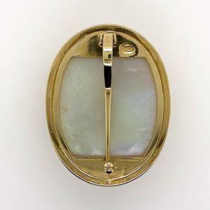 Opal-Cameo-gold-pendant-brooch-reverse