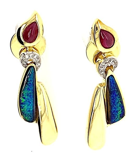 Gold-boulder-opal-earrings-bolda
