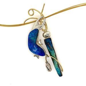 Aquatika-gold-silver-boulder-opal-pendant-bolda